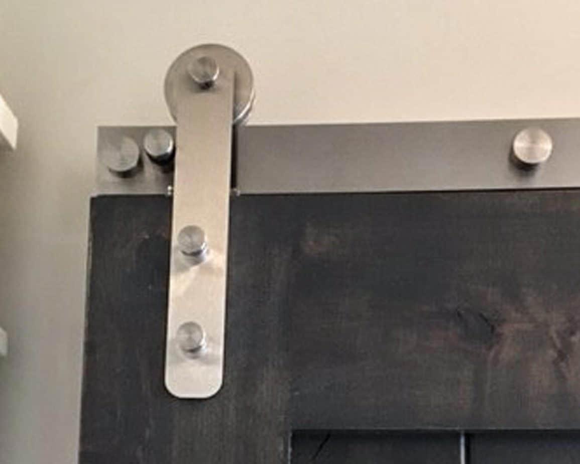 Goldberg Brothers Stainless Steel Series barn door hardware